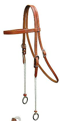 Leather Draw Headstall With Brow