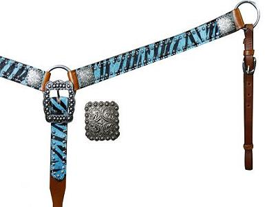 Showman™Belt Style Hair On Zebra Print Breast Collar