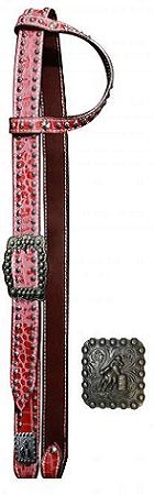 Showman™ Belt Style One Ear Headstall With Alligator Print